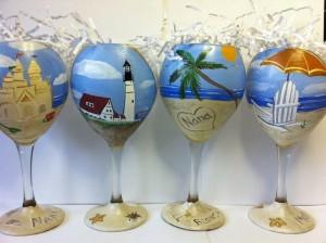 Beach Wine Glasses