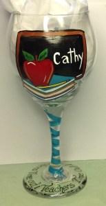 Teacher Wine Glass