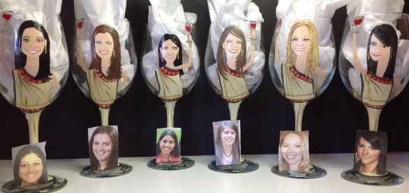 Custom Bridesmaid Portrait Glasses