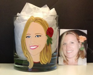 Custom Portrait Rock Glass