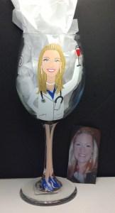 Custom Doctor Wine Glass