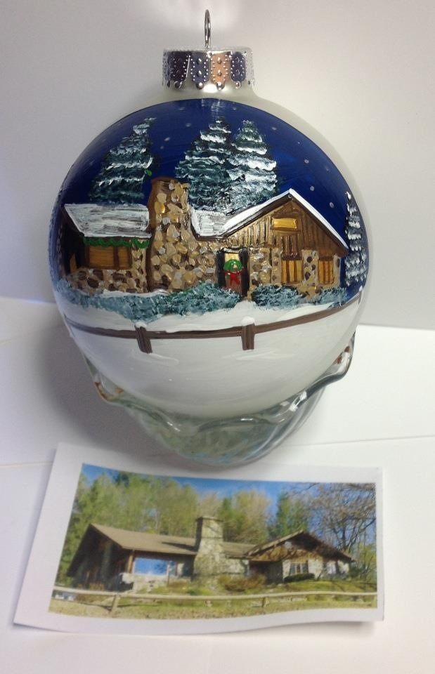 custom creations hand painted house christmas ornaments are a completely custom rendition of your own home after all your home is your most cherished - Paint Your Own Ceramic Christmas Decorations