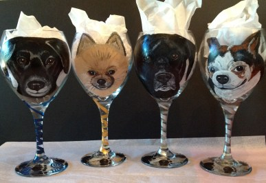 Custom Portrait Wine Glasses
