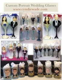 Custom Wedding Party Wine Glasses