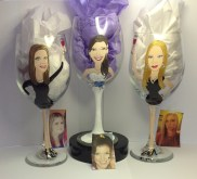 Portrait Wine Glass Wedding Party