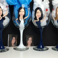Custom Bridesmaid Glasses Portrait Wine Glass