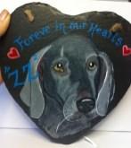 Custom Dog Portrait Slate