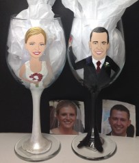 Custom Bride and Groom Wine Glasses