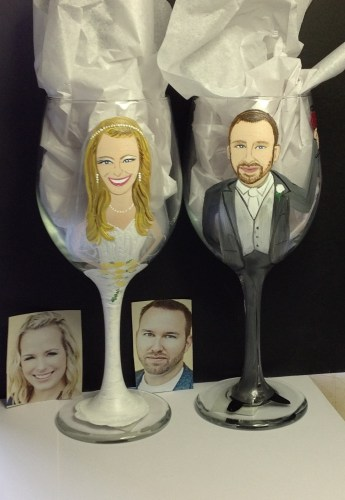 Custom Bride and Groom Glasses