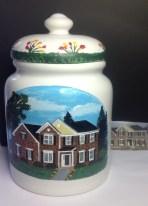 Custom Painted House Cookie Jar