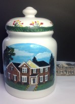 Custom Painted House Cookie Jar