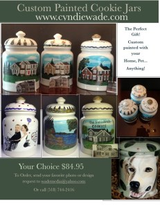 Custom Cookie Jars $84.95. With personalized Lid $94.95