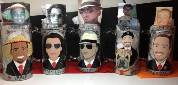 Custom Groomsmen Beer Mugs