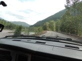 Day 1 -  driving along the Flathead River