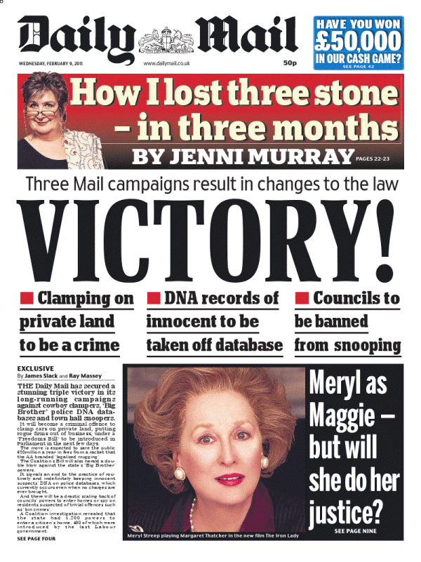 Front pages reviewed at midnight: Wednesday 9 February ...