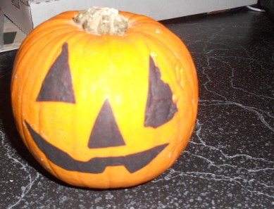 A pumpkin that came home from school