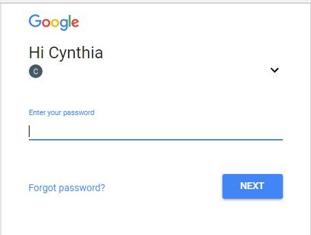 google-password