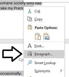 choose-paragraph-menu