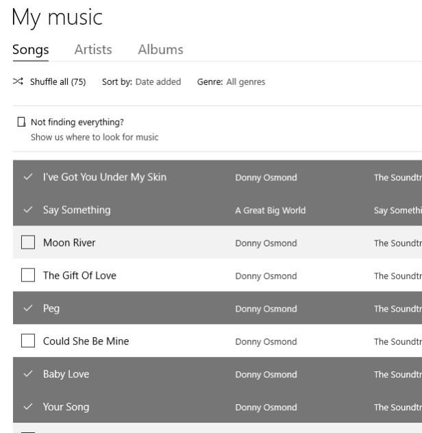 select-songs