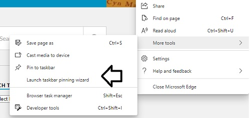 launch taskbar pinning wizard