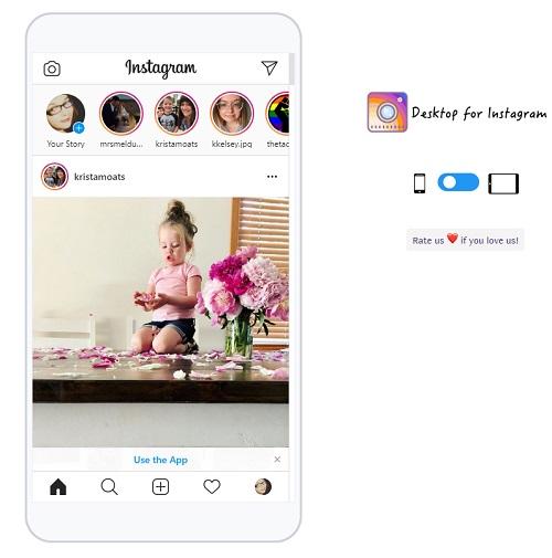 instagram-chrome-open