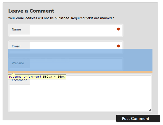 When CSS Positioning Kills Functionality: Changing the Look of a WordPress Comments Form (2/3)