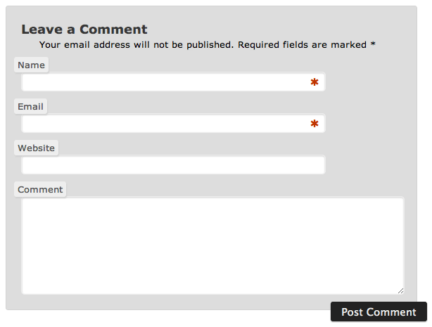 When CSS Positioning Kills Functionality: Changing the Look of a WordPress Comments Form (3/3)