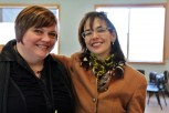 ECE worker and Childcare owner Heather Hansen-Dunbar with Free Range Kids author Lenore Skenazy in Halifax, NS. (L-R)