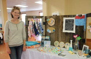 Melissa Bishop of Baby B Handmade from Bridgewater sells handmade baby products at Hammonds Plains Sunday community market between 10 a.m. and 2 p.m.