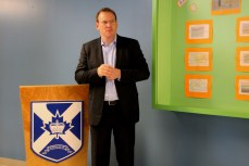 """""""Maybe the next generation of schools and maybe even PA will start to incorporate things like solar panels and micro wind turbines and you may even see some schools into net metering into the grid at some point,"""" said Energy Minister Andrew Younger."""