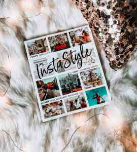instastyle by tezza. fur throw rug, twinkly lights and sequined pillow