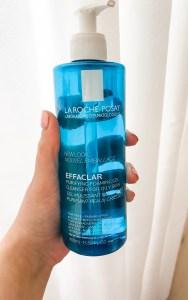 La Roche Posay Effeclar gel cleanser. nighttime skincare routine.