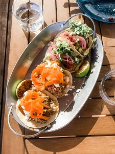 tacos from the soca kitchen. 4 tacos on silver tray. 5 TASTY TACO SPOTS IN OTTAWA YOU NEED TO CHECK OUT!