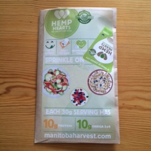 Hemp hearts envelope