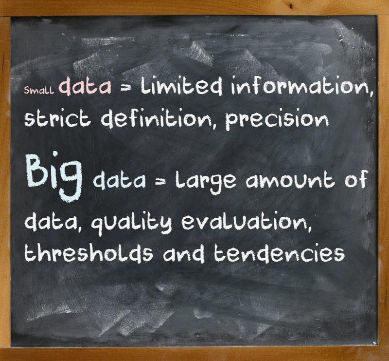Formula 5 small data vs big data
