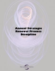 Annual Strategic Renewal Cover