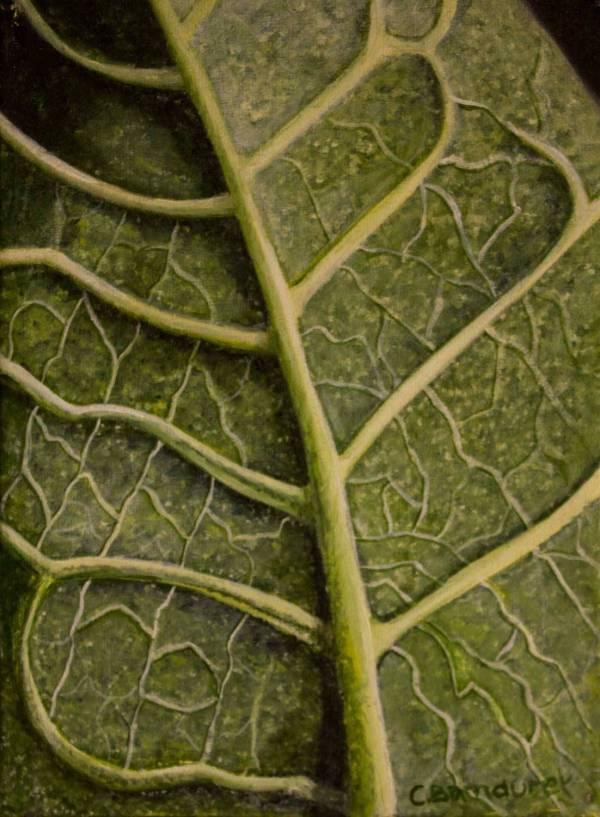 Oil painting - textures- leaf - Cynthia Bandurek