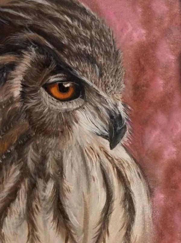 Owl - Oil painting - Cynthia Bandurek