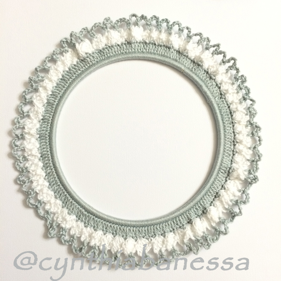 Gray and White Crochet Frame 3