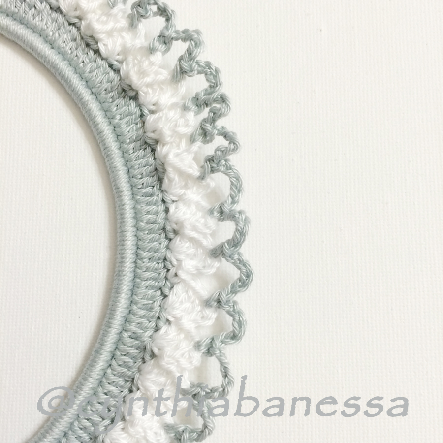 Gray and White Crochet Frame 4