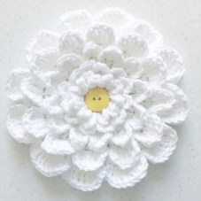 large crochet multi- petal flower