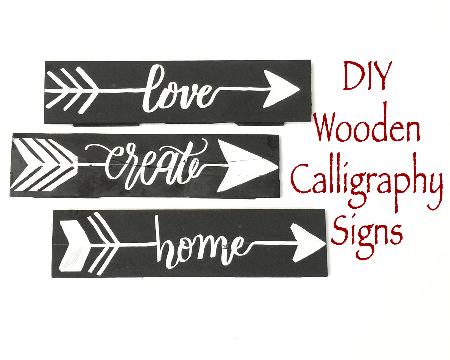 Creating Calligraphy Wooden Signs