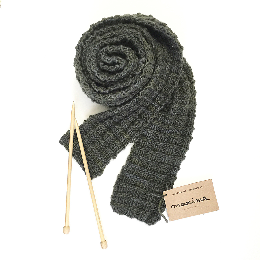 beginner easy knit scarf