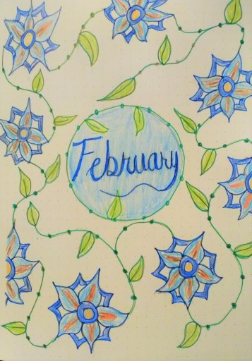 February Bullet Journal Cover
