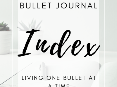 Bullet Journal Index Page