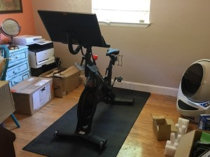 Peloton bike set up