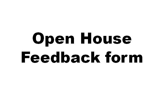 Open House Feedback Form Cynthia DeLuca Speaker : Author