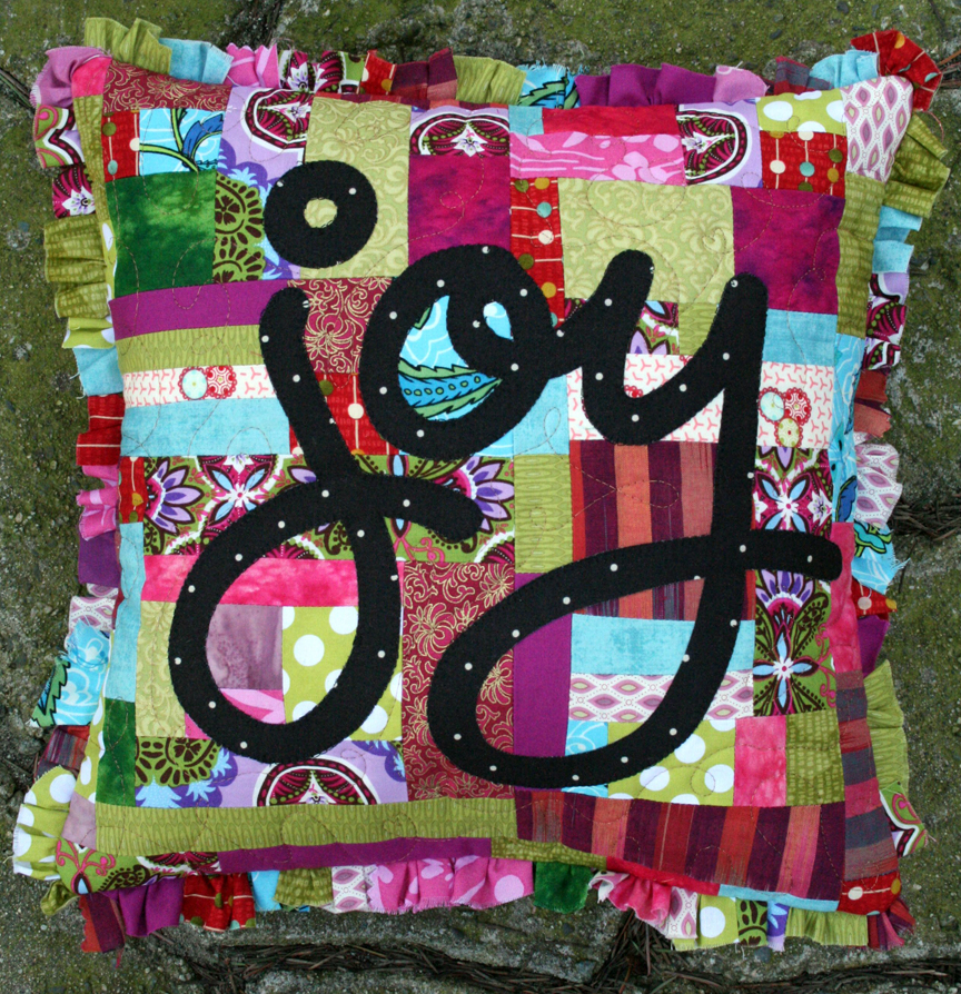 Joy Pillow- Quilting Arts 2012