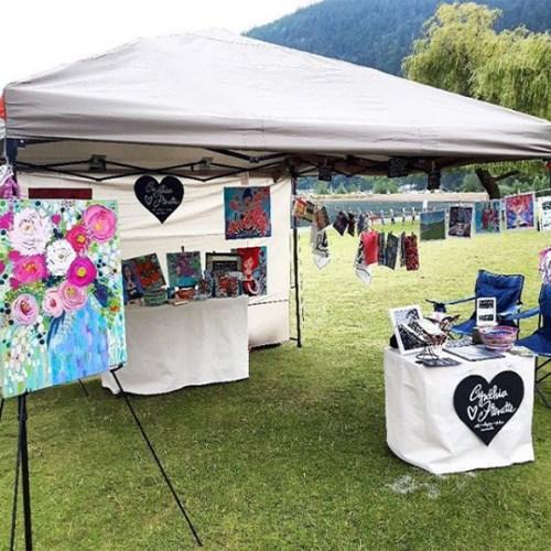 Our first outdoor art market!