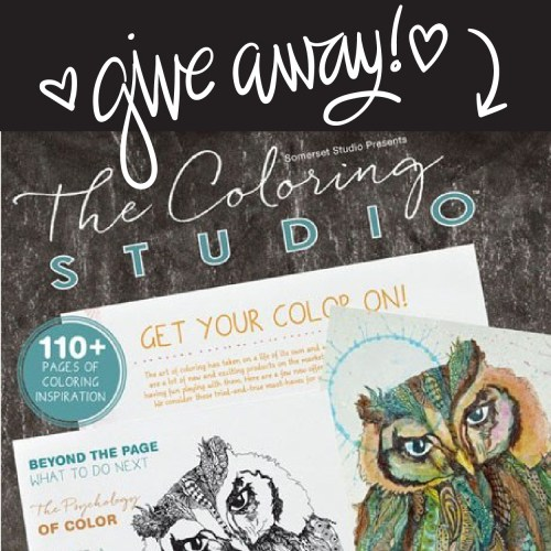 The Coloring Studio magazine, and a giveaway!